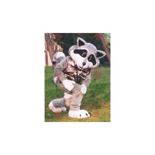 Tricolor vaskebjørn maskot - Redbrokoly.com