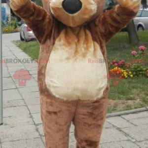 Soft and cute giant brown bear mascot. Teddy bear mascot -