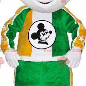 Maskotka Mickey Mouse. Czarno-biała maskotka myszy -
