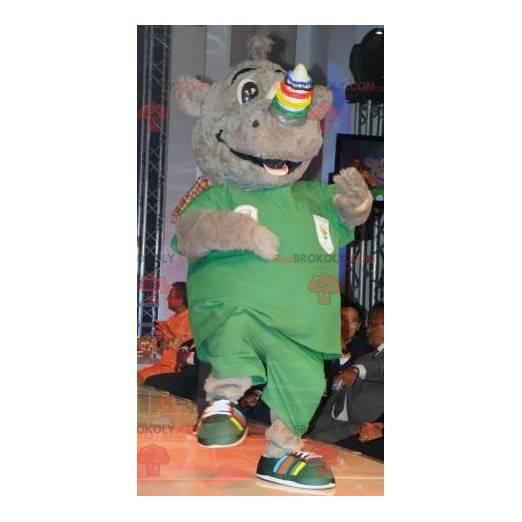 Usmívající se maskot šedého nosorožce - Redbrokoly.com