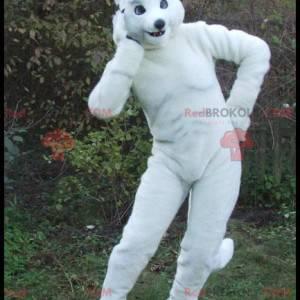 Stor atletisk hvit kaninmaskot - Redbrokoly.com
