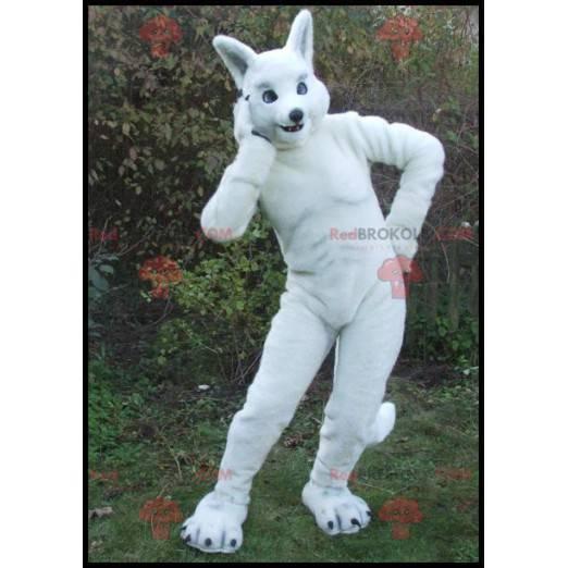 Large athletic white rabbit mascot - Redbrokoly.com