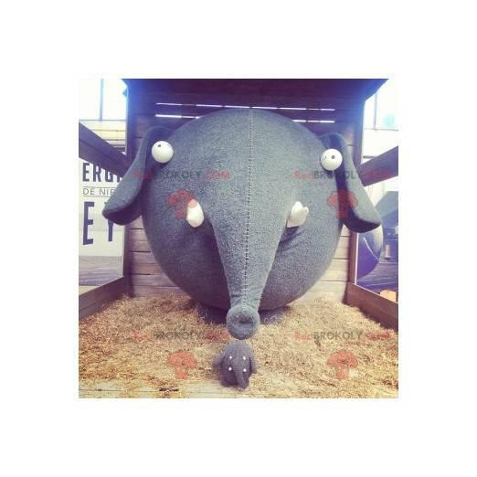 Elephant mascot with a big head - Redbrokoly.com