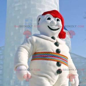 Alles weiße Schneemann Maskottchen - Redbrokoly.com