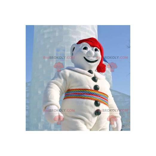 All white snowman mascot - Redbrokoly.com
