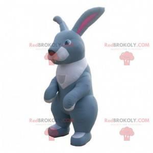 Obří šedobílý nafukovací maskot králíka - Redbrokoly.com