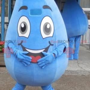 Obří a usměvavý kapka vody maskot. Vodní maskot - Redbrokoly.com