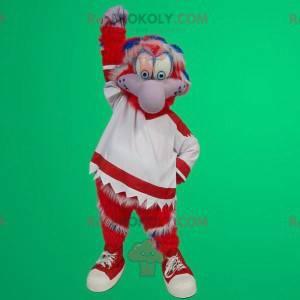 Rød og hvit fuglemaskot - Redbrokoly.com