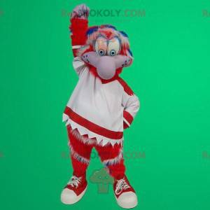 Rotes und weißes Vogelmaskottchen - Redbrokoly.com