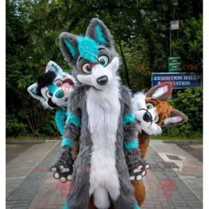 3 włochate i kolorowe maskotki dla psów - Redbrokoly.com