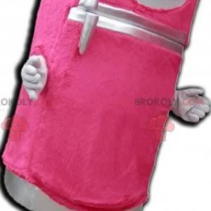 Słodka i urocza różowa maskotka na lodówkę z dozownikiem -