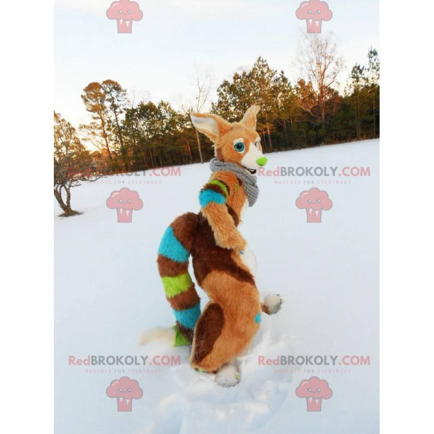 Multicolored fox mascot - Redbrokoly.com