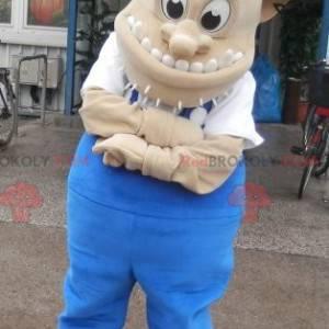 Trollmaskott med vikinghjelm. Creature maskot - Redbrokoly.com