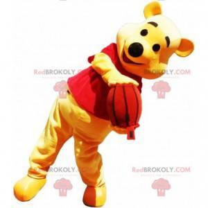 Mascota de Winnie the Pooh famoso oso amarillo de dibujos