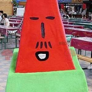 Obří červené a zelené písmeno maskot - Redbrokoly.com