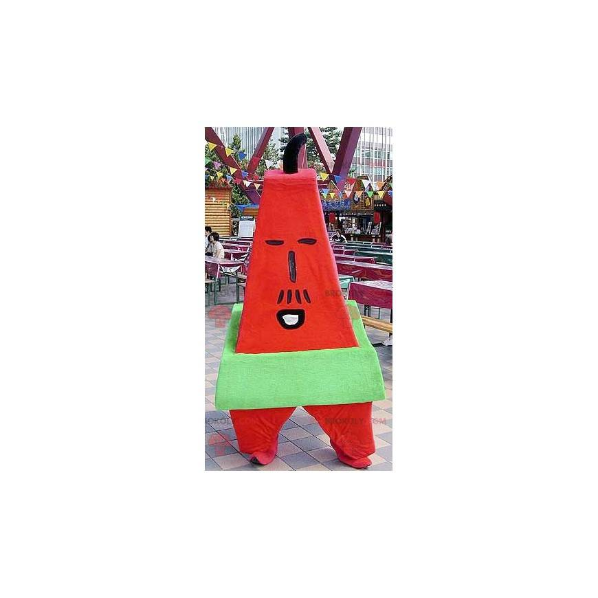 Giant red and green letter A mascot - Redbrokoly.com