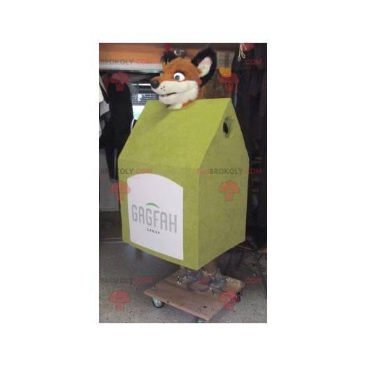 Mascot wooden hut with a fox head - Redbrokoly.com
