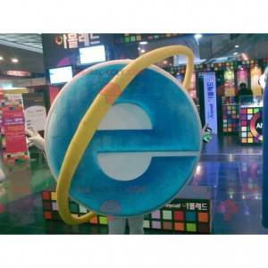 Internet Explorer computer mascot - Redbrokoly.com