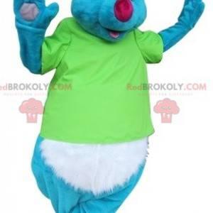 Mascote coala azul e branco com óculos de sol - Redbrokoly.com