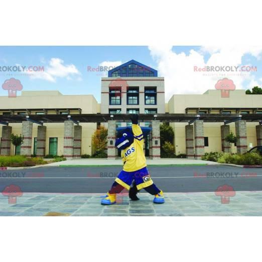 Blue and yellow horse mascot - Redbrokoly.com