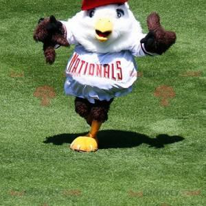 Hnědý a bílý pták orel maskot - Redbrokoly.com