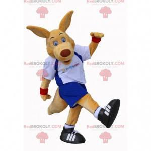 Riesiges Känguru-Maskottchen in Sportbekleidung - Redbrokoly.com