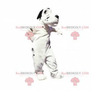 Weißes und schwarzes Hundemaskottchen. Dalmatinisches