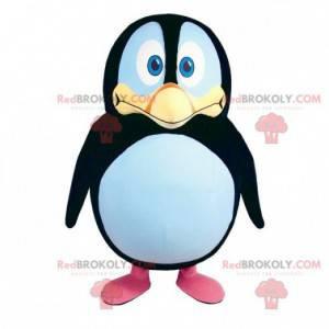Tučňák maskot černá bílá a žlutá. Kostým tučňáka -