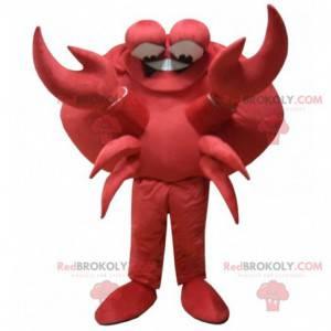 Riesenmaskottchen der roten Krabben. Krustentier Maskottchen -