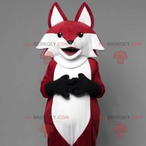 Bardzo realistyczna maskotka lis czerwono-biały - Redbrokoly.com