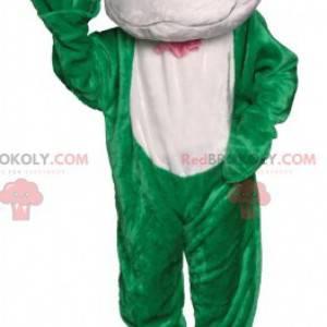 Green and white frog mascot. Frog costume - Redbrokoly.com