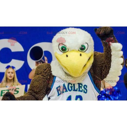 Mascot brown white and yellow eagle - Redbrokoly.com
