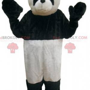 Černá a bílá panda maskot. Černý a bílý medvěd - Redbrokoly.com