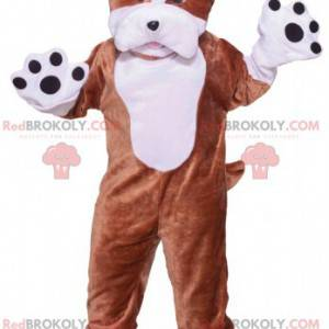Brown and white dog mascot. Dog costume - Redbrokoly.com