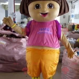 Mascote famoso dos desenhos animados de Dora, a Exploradora -