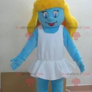 Smurfette mascot famous blue character - Redbrokoly.com