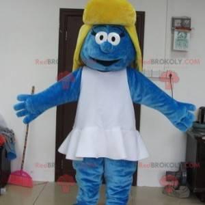 Mascote Smurfette famoso personagem de quadrinhos -