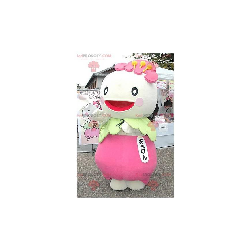 Japanese character radish turnip mascot - Redbrokoly.com