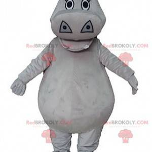 Pulchna i urocza maskotka hipopotama w kolorze szarym -