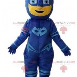 Superheld maskiert Schneemann Maskottchen - Redbrokoly.com