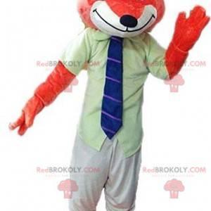Maskot oranžová liška s kravatou - Redbrokoly.com