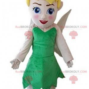 Feenmaskottchen mit einem grünen Kleid. Tinker Bell -