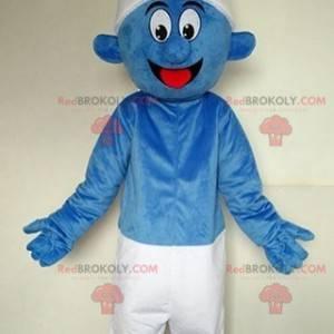 Mascote Smurf famoso personagem de quadrinhos azul -