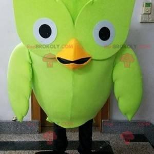 Maskot obří sova zelený pták - Redbrokoly.com