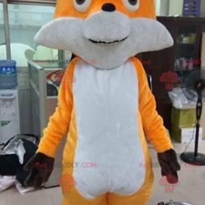 Měkký a barevný maskot oranžové a bílé lišky - Redbrokoly.com