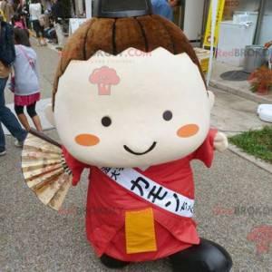 Japanisches Mädchenmaskottchen der asiatischen Frau -