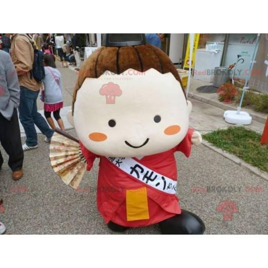 Japanese girl mascot of Asian woman - Redbrokoly.com