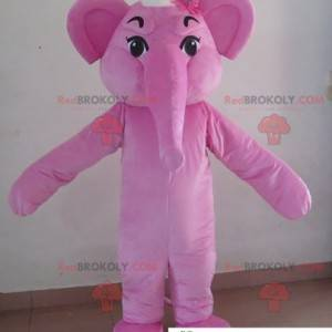 Rosa Elefantenmaskottchen. Elefantenkostüm - Redbrokoly.com