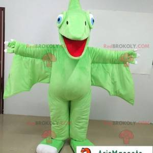 Prehistorický pták zelený drak maskot - Redbrokoly.com