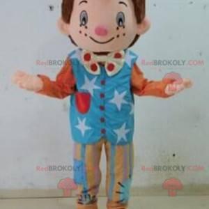 Mascotte del pagliaccio delle marionette. Mascotte per bambini